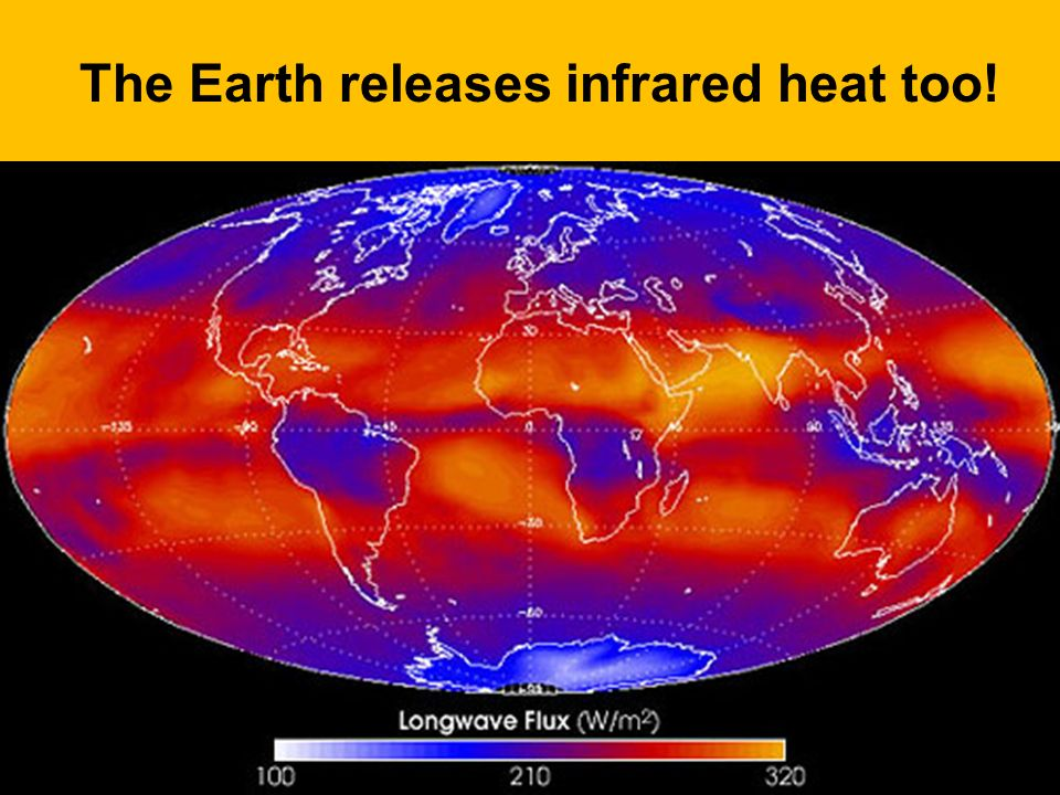 The Earth releases infrared heat too!