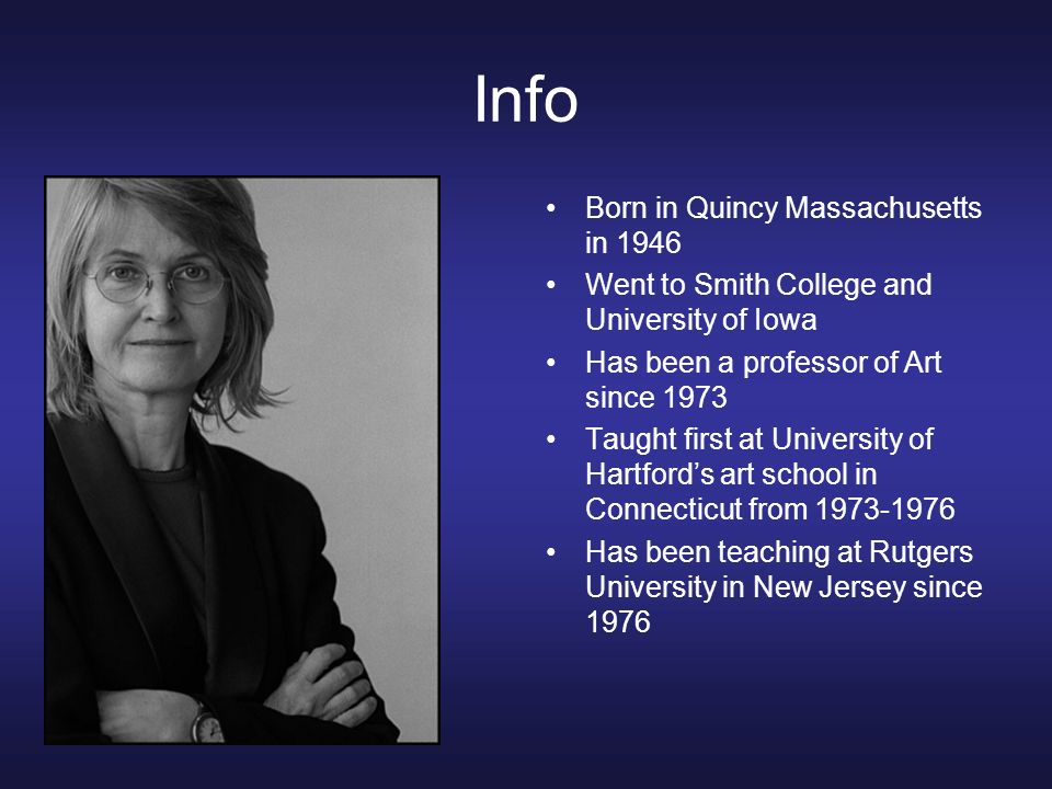 Info Born in Quincy Massachusetts in 1946