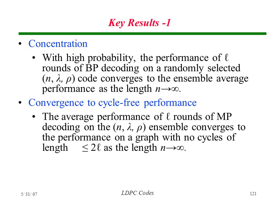 Convergence to cycle-free performance