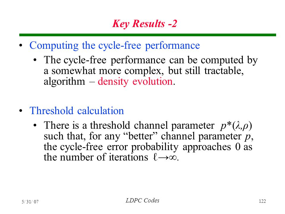 Computing the cycle-free performance