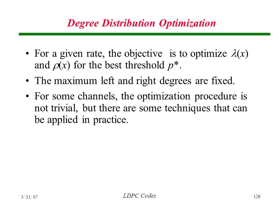 Degree Distribution Optimization
