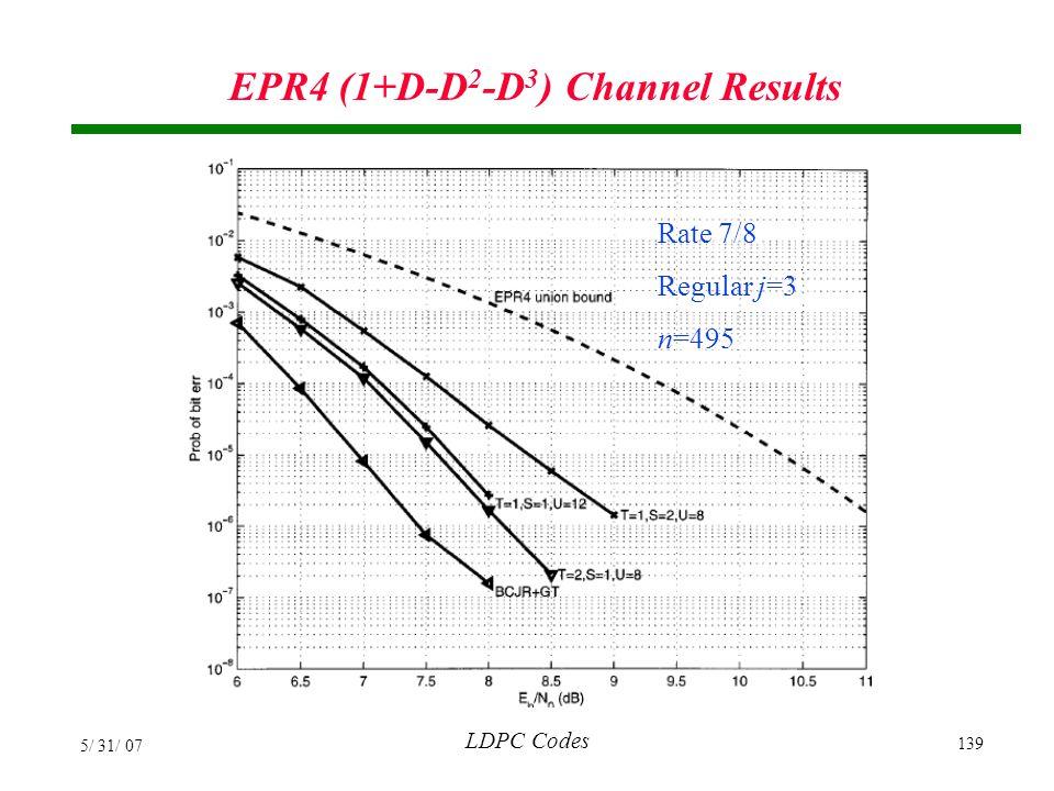 EPR4 (1+D-D2-D3) Channel Results