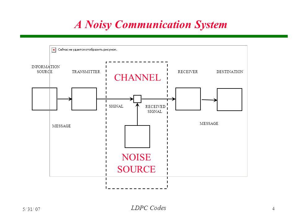 A Noisy Communication System