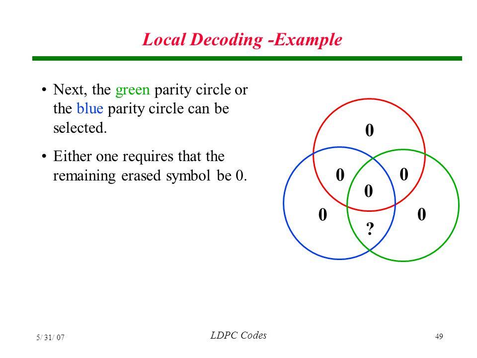 Local Decoding -Example