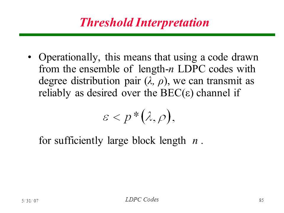 Threshold Interpretation