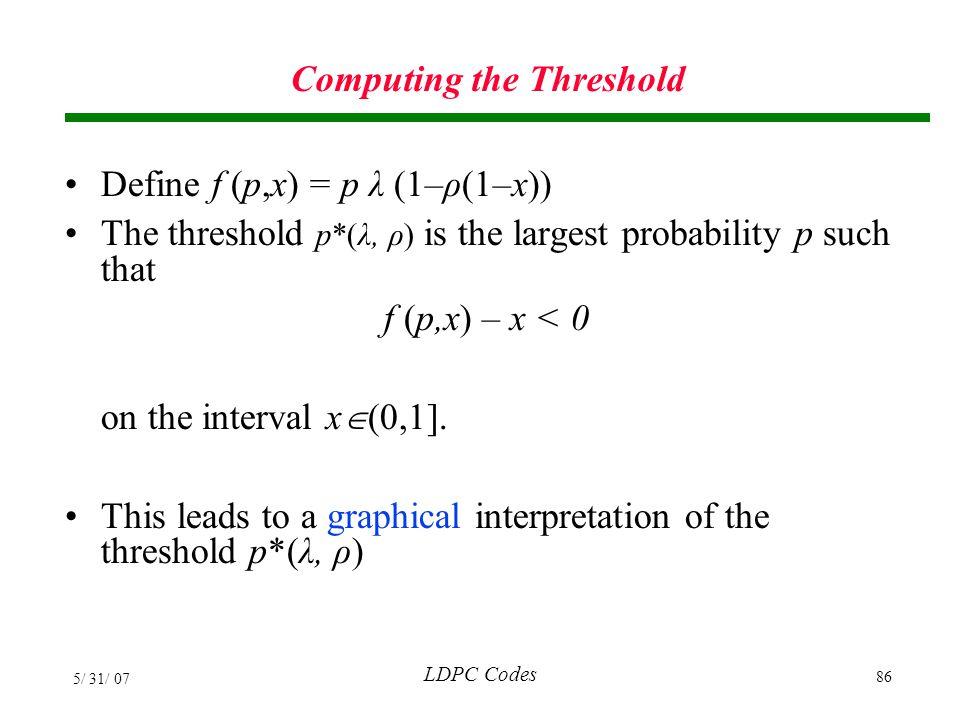 Computing the Threshold