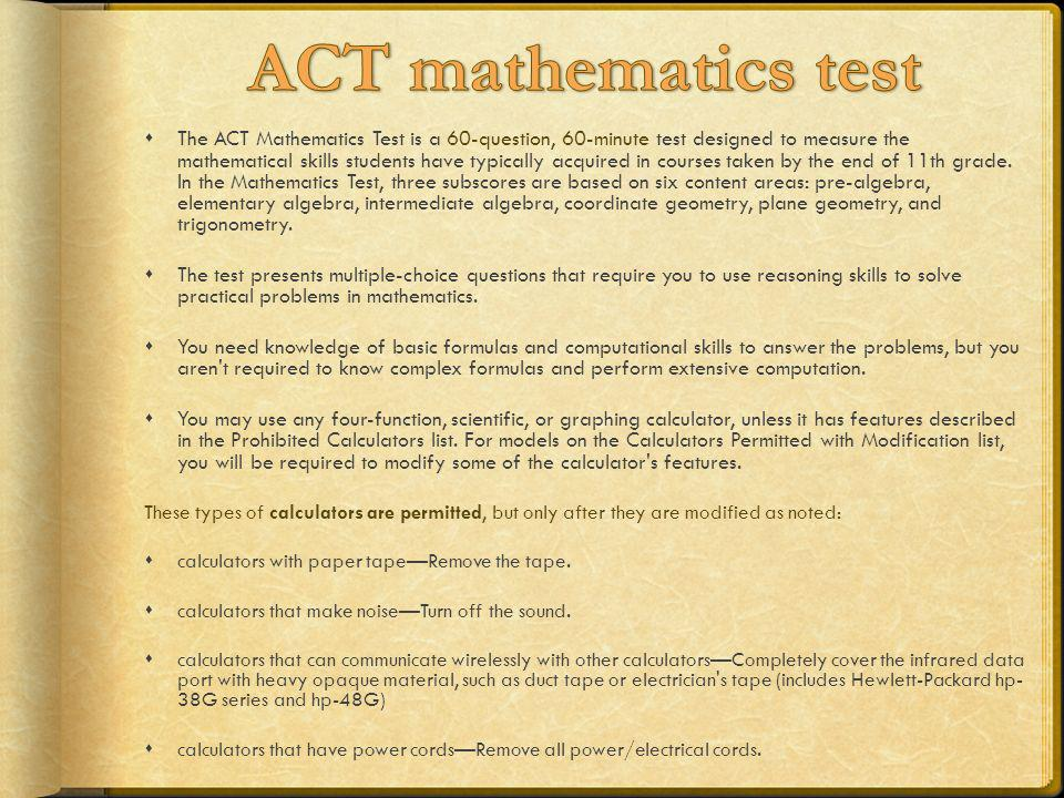 ACT mathematics test