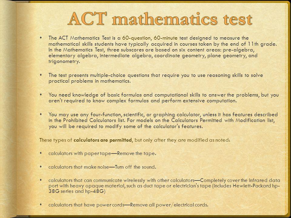 ACT mathematics test