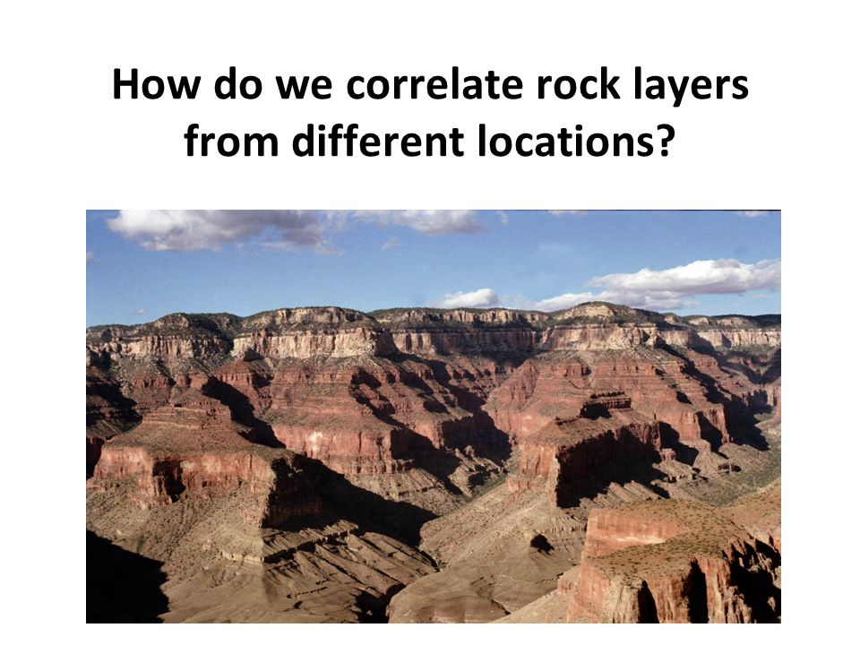 How do we correlate rock layers from different locations