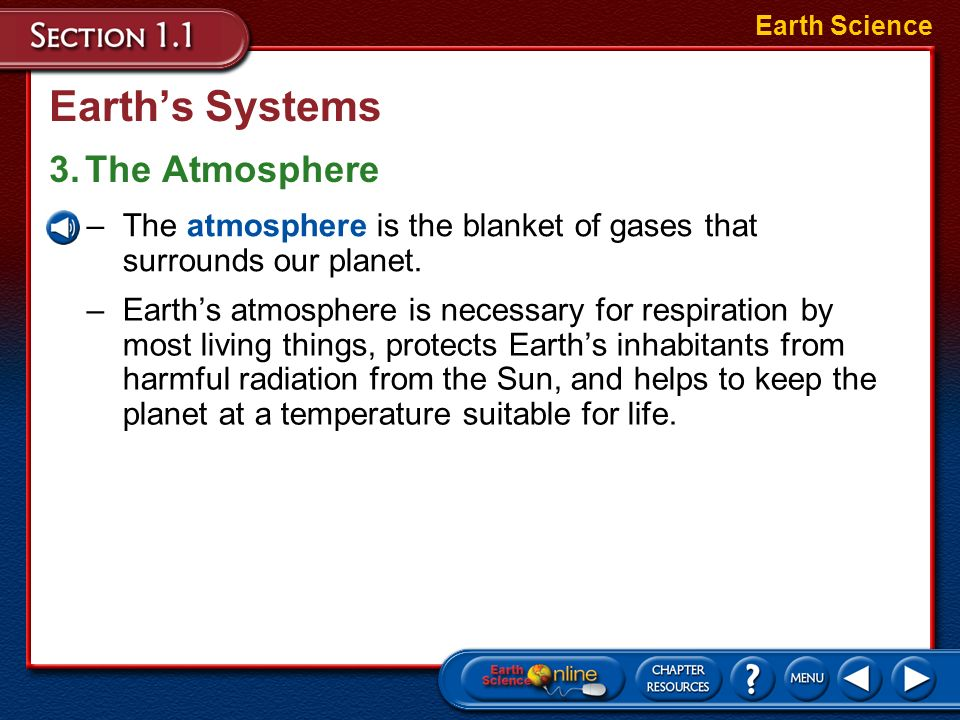 Earth's Systems 3. The Atmosphere