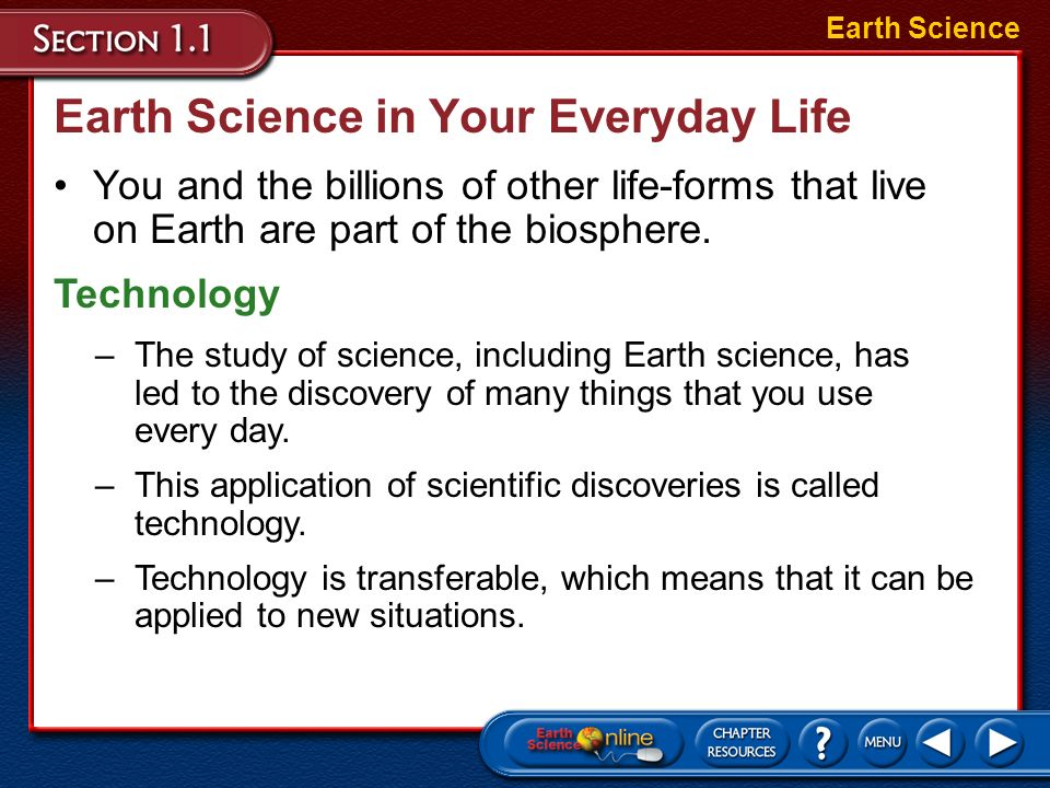 Earth Science in Your Everyday Life