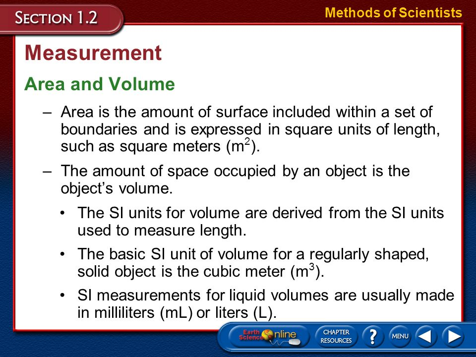 Measurement Area and Volume