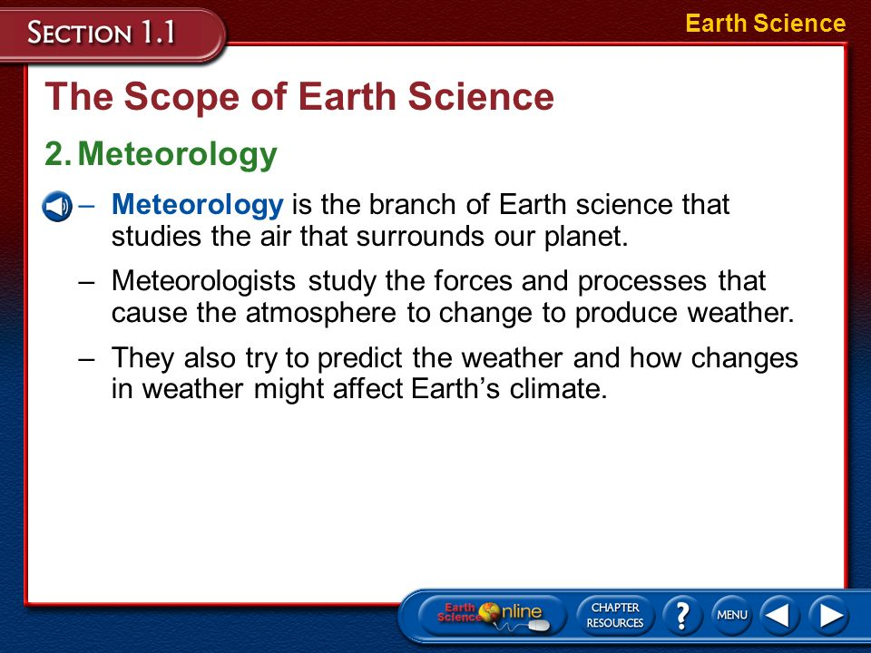 The Scope of Earth Science
