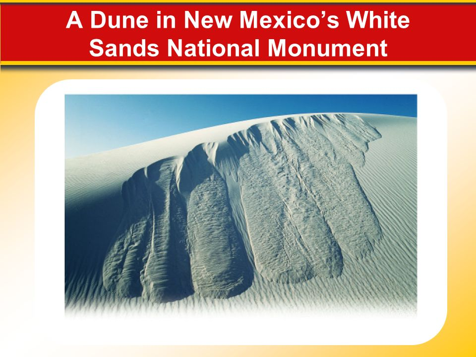 A Dune in New Mexico's White Sands National Monument