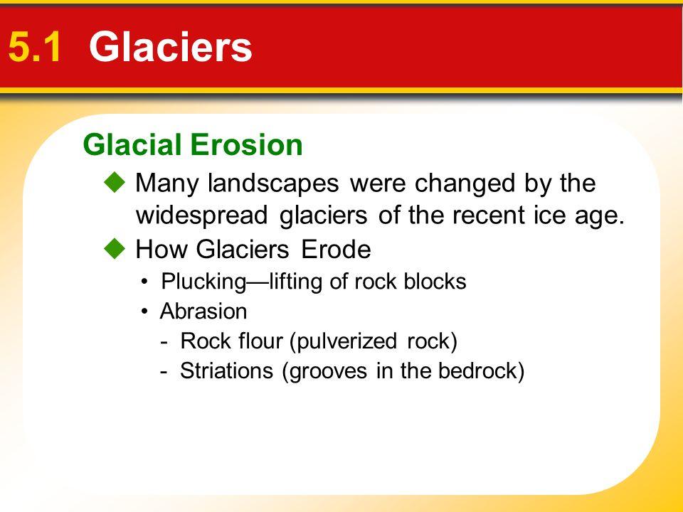 5.1 Glaciers Glacial Erosion