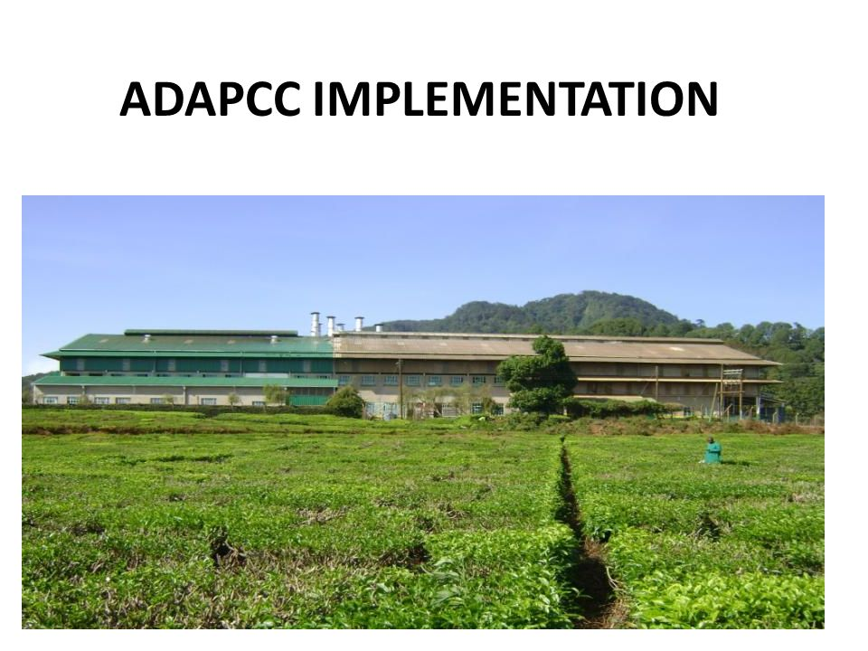 ADAPCC IMPLEMENTATION