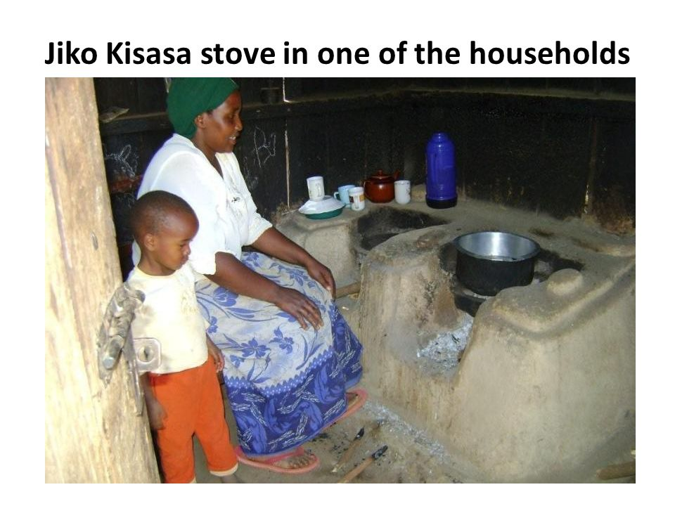 Jiko Kisasa stove in one of the households