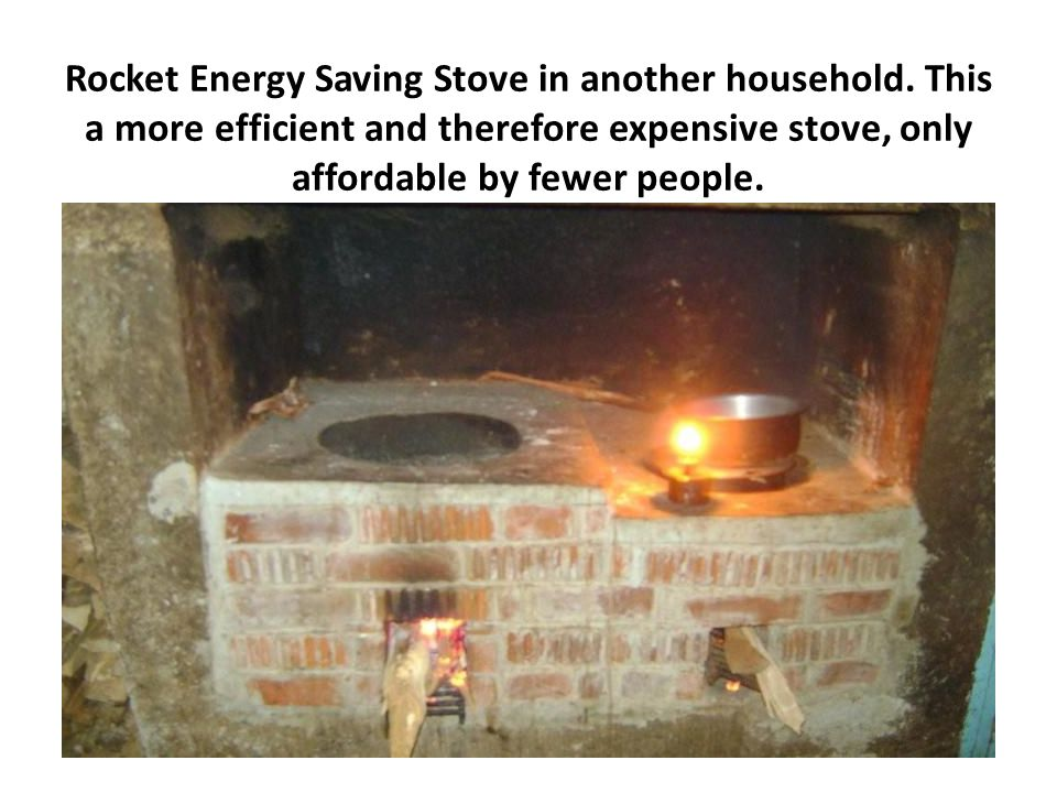 Rocket Energy Saving Stove in another household