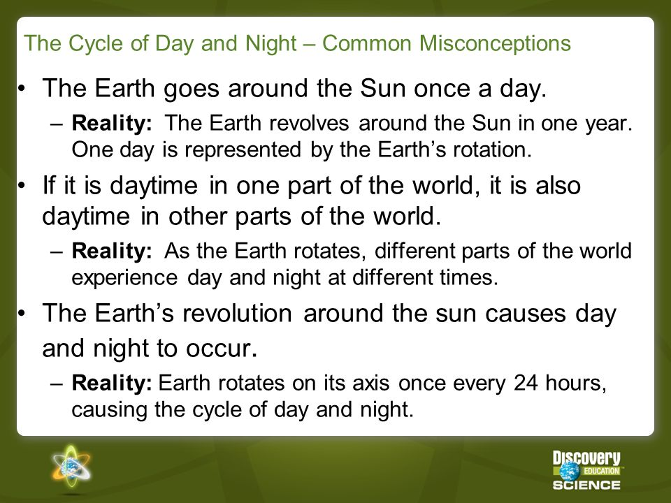 The Cycle of Day and Night – Common Misconceptions