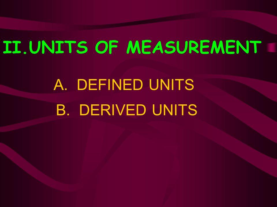 II.UNITS OF MEASUREMENT