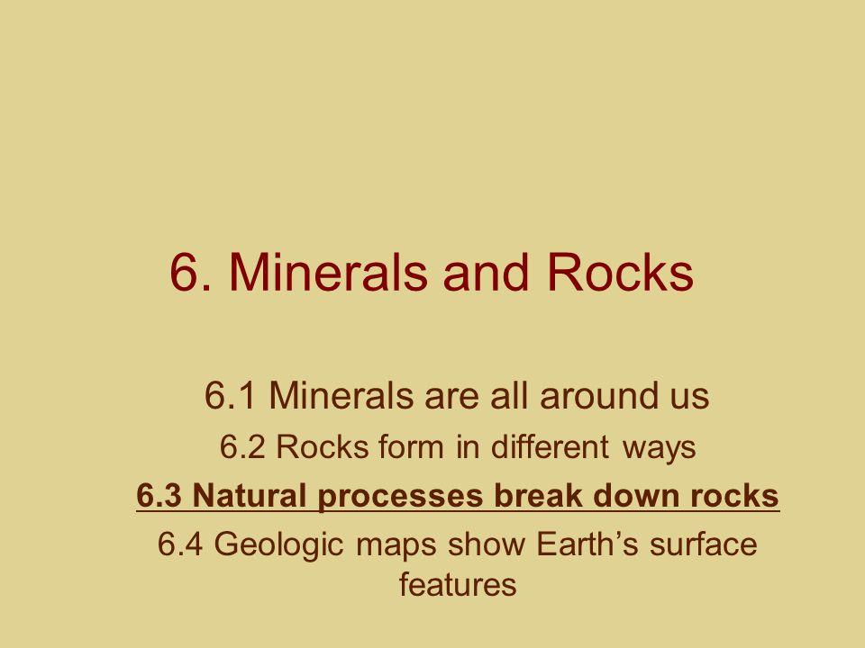 6.3 Natural processes break down rocks