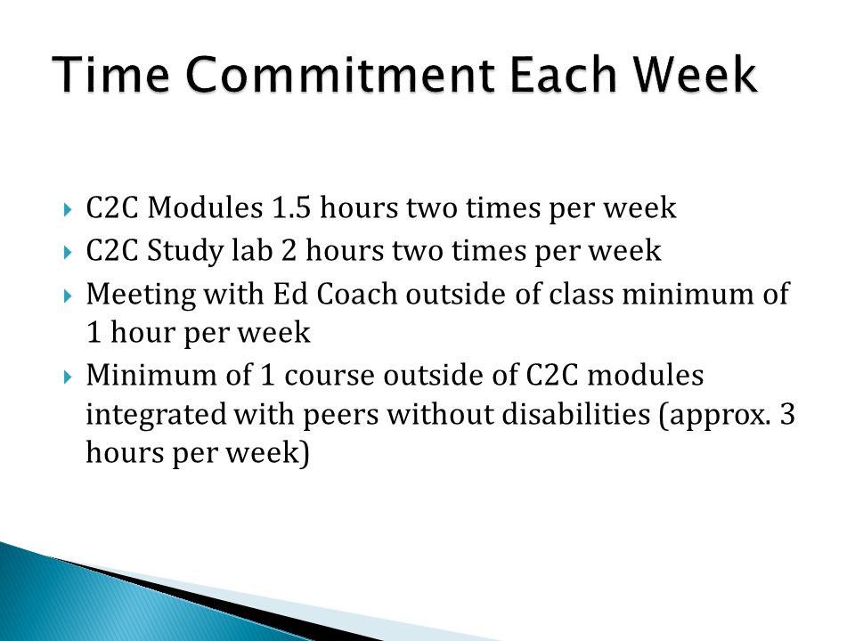 Time Commitment Each Week