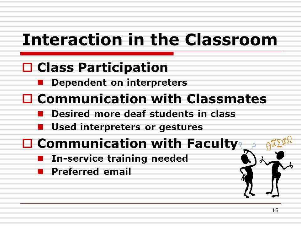 Interaction in the Classroom