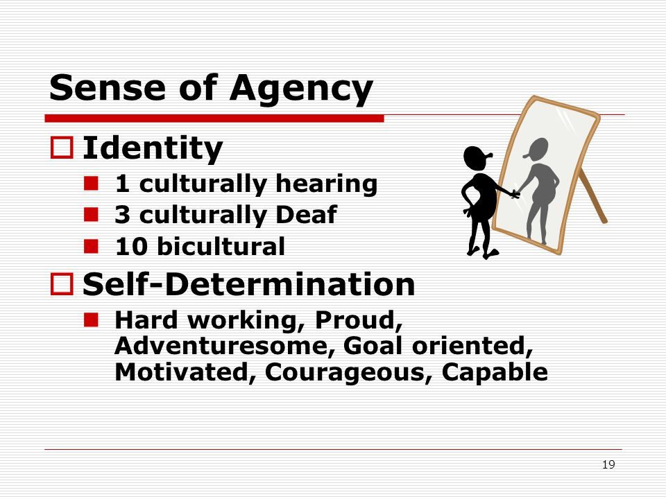 Sense of Agency Identity Self-Determination 1 culturally hearing