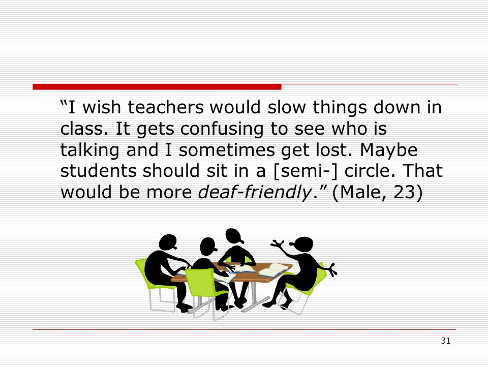 I wish teachers would slow things down in class