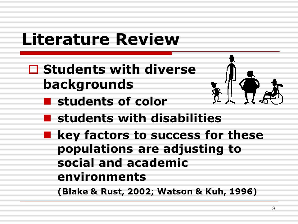 Literature Review Students with diverse backgrounds students of color