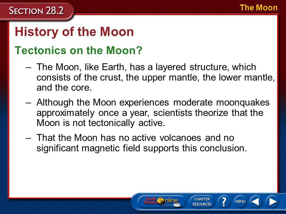 History of the Moon Tectonics on the Moon