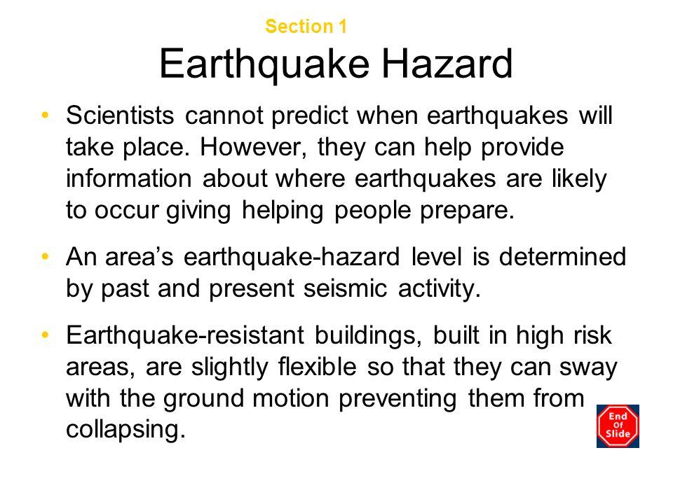 Earthquake Hazard Chapter 3