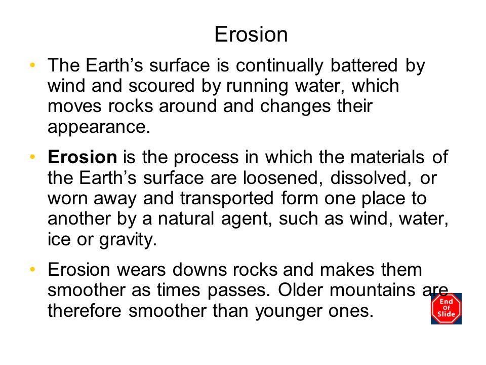 Chapter 3 Erosion.