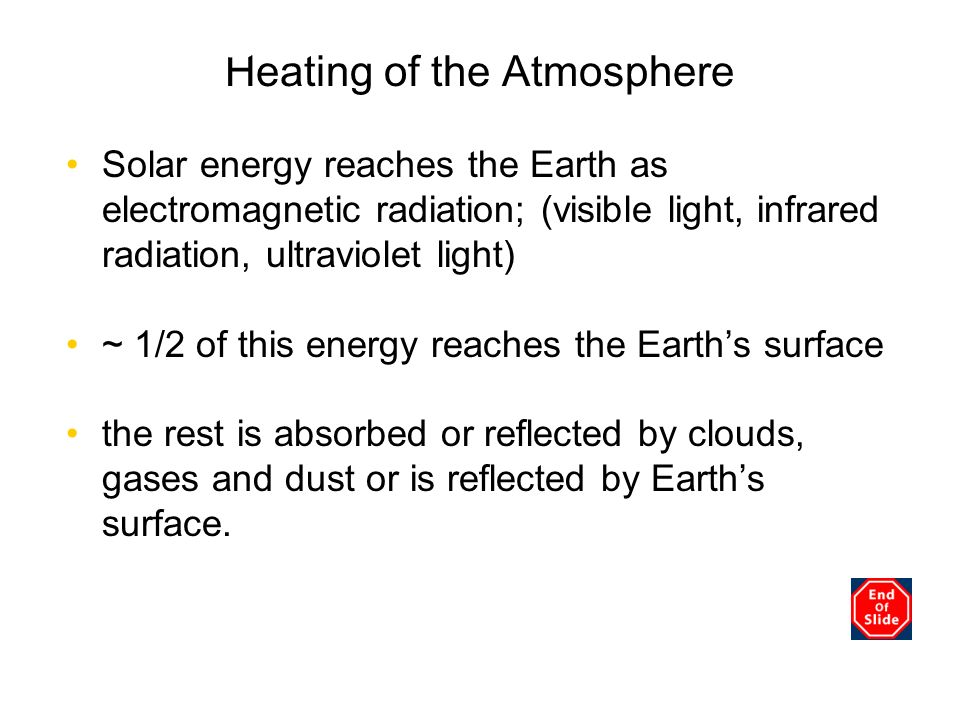 Heating of the Atmosphere