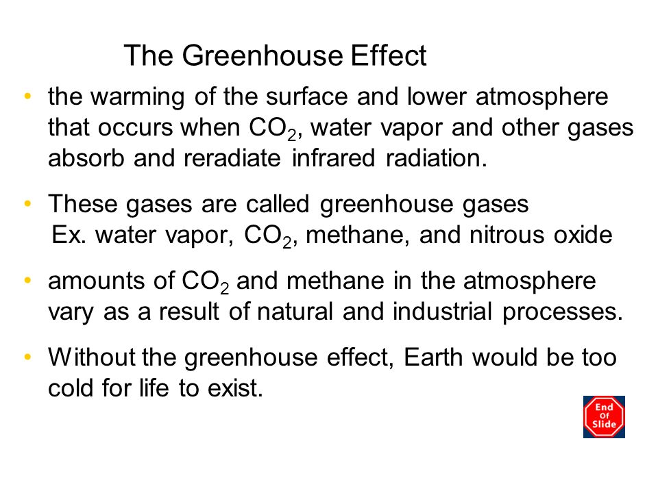 The Greenhouse Effect Chapter 3