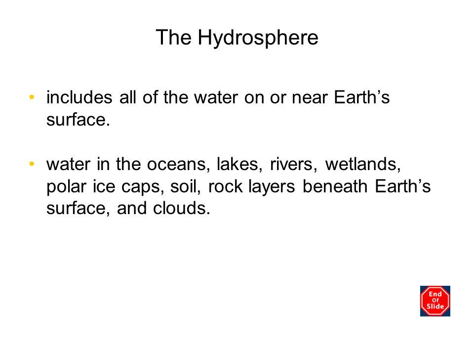 The Hydrosphere Chapter 3