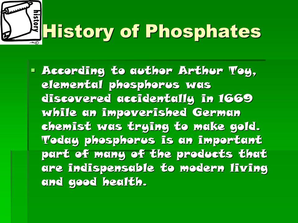 History of Phosphates