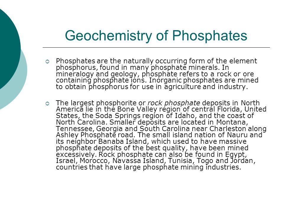 Geochemistry of Phosphates