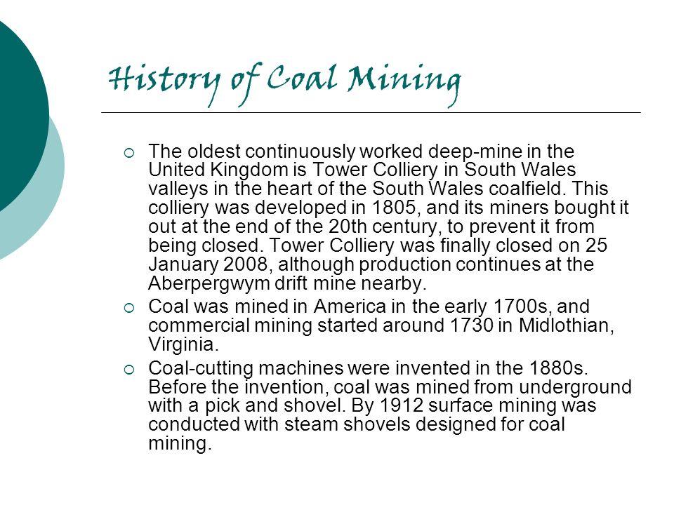 History of Coal Mining