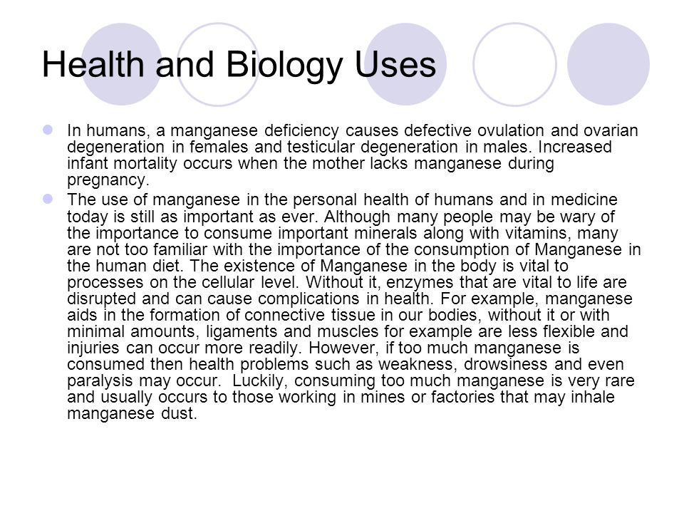Health and Biology Uses