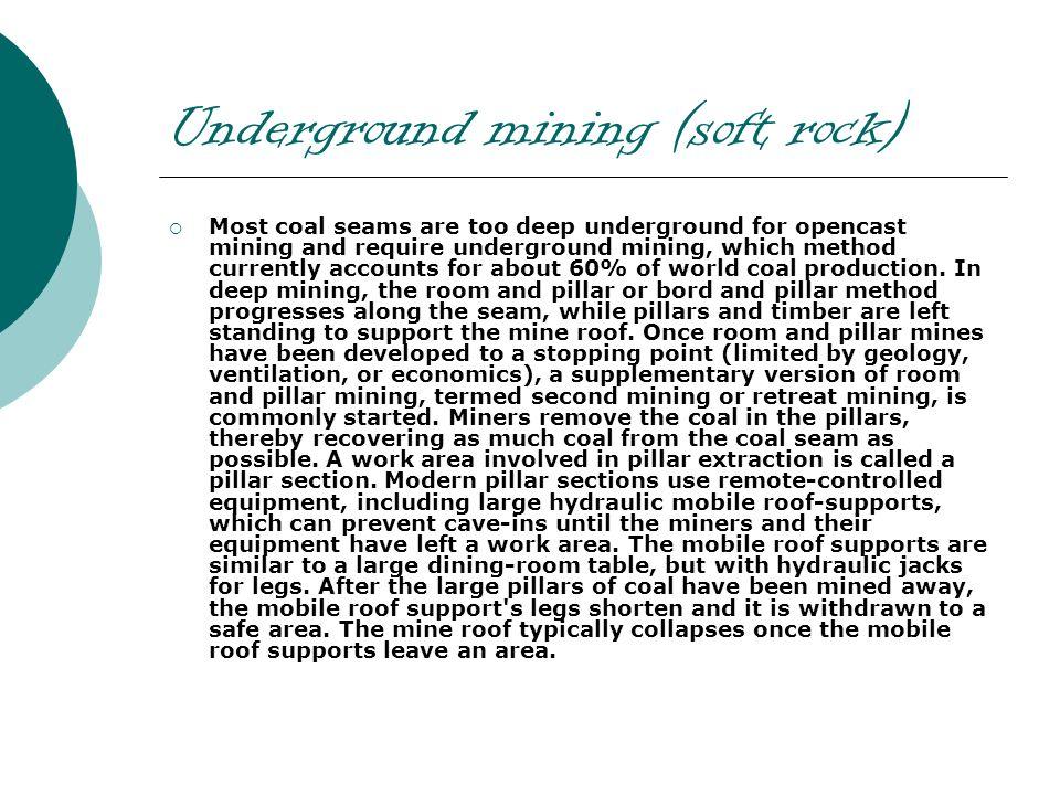 Underground mining (soft rock)