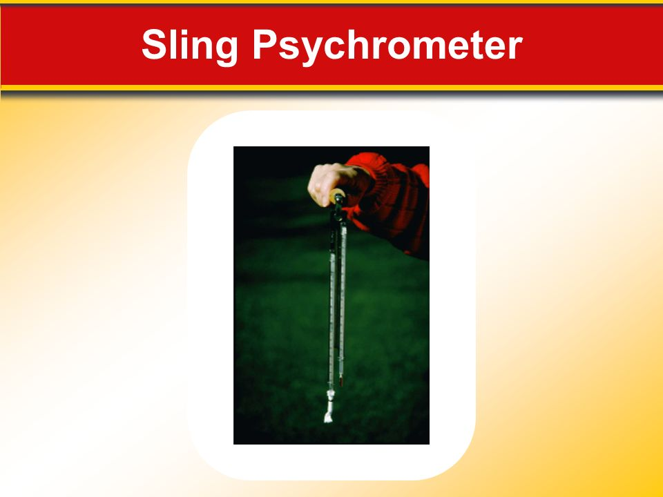 Sling Psychrometer Makes no sense without caption in book