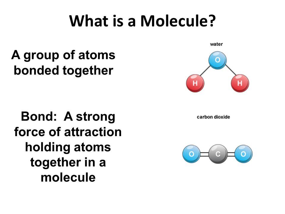 A group of atoms bonded together