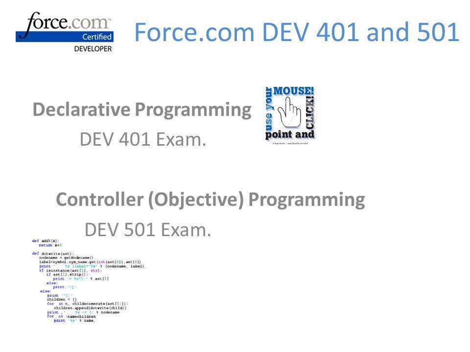 Force.com DEV 401 and 501 Declarative Programming DEV 401 Exam.
