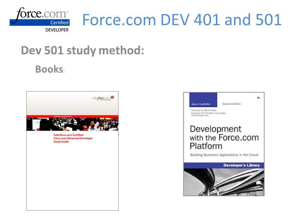 Dev 501 study method: Books: