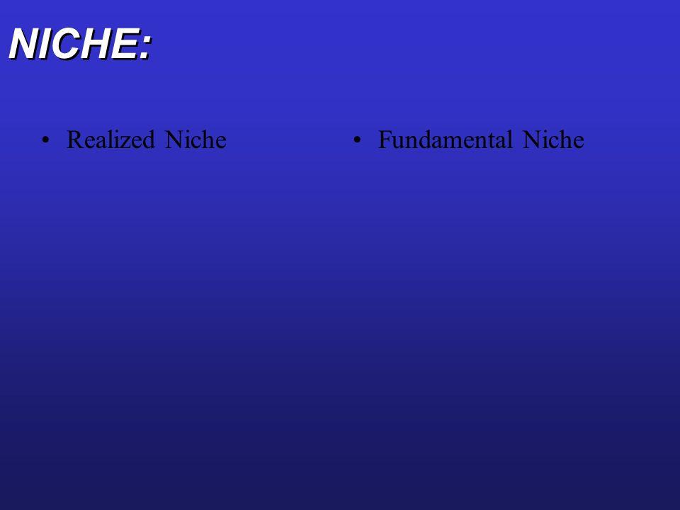 NICHE: Realized Niche Fundamental Niche