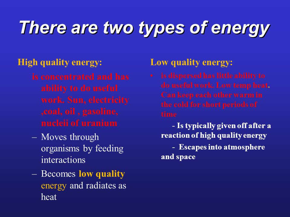 There are two types of energy