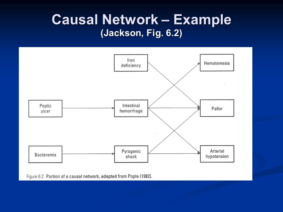 Causal Network – Example (Jackson, Fig. 6.2)