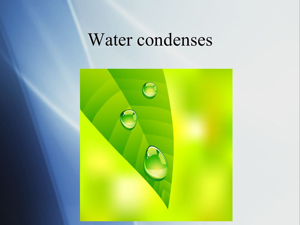 Water condenses