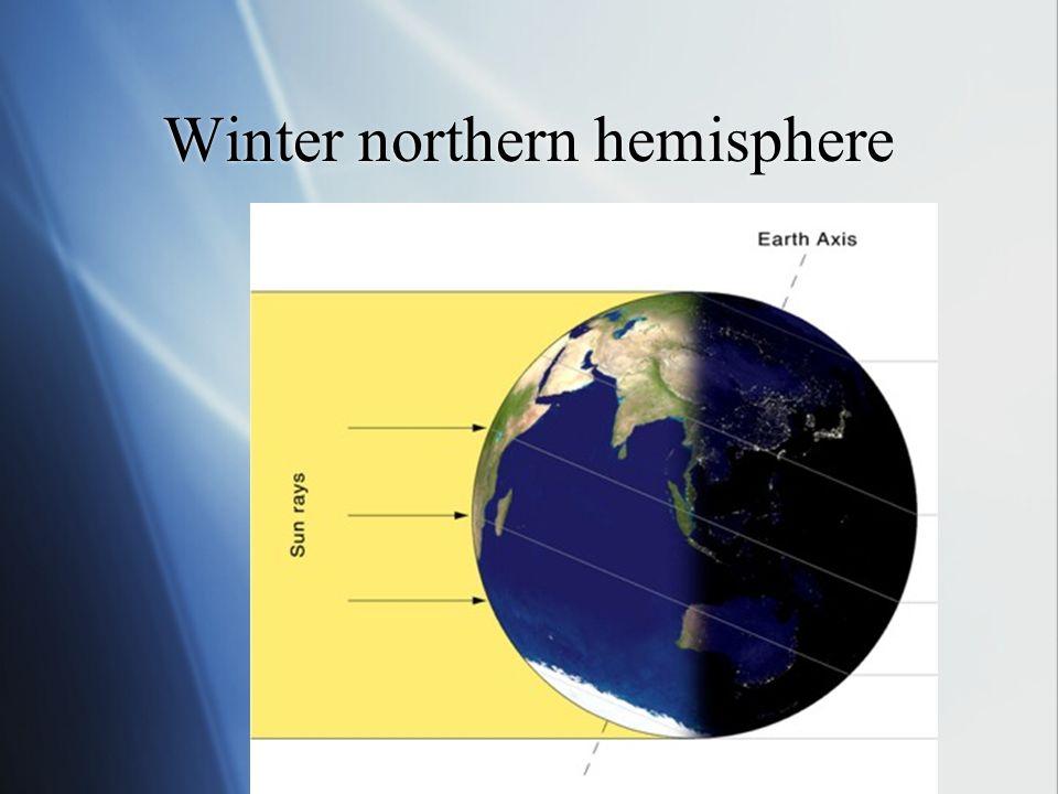 Winter northern hemisphere